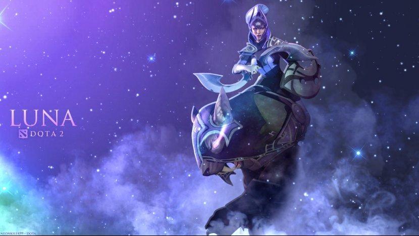 Luna The Moonrider - обзор героя Dota 2