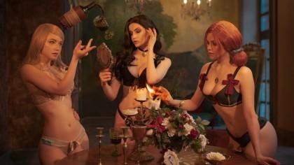 Косплей Ведьмак: Дикая Охота. Волшебная вечеринка в Туссене
