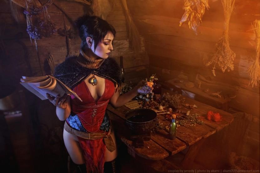 Косплей Морриган — Dragon Age: Origins