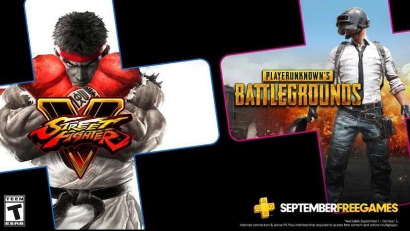 Уже завтра! Бесплатные игры для PS Plus в сентябре: PUBG, Street Fighter V