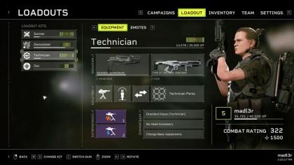Aliens: Fireteam Elite - Техник (способности, перки)