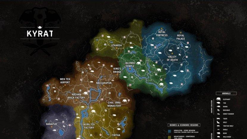 Карта Кирата в Far Cry 4