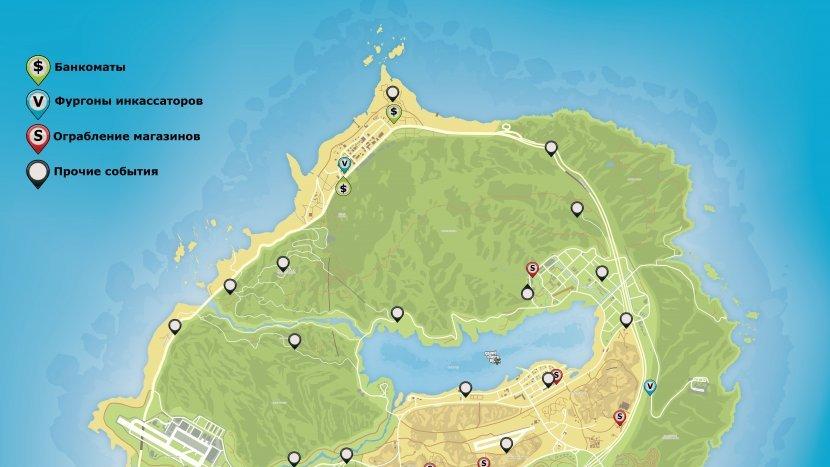 GTA V - Карта случайных событий