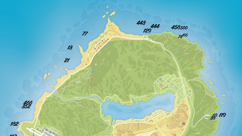 GTA V - Карта токсичных отходов
