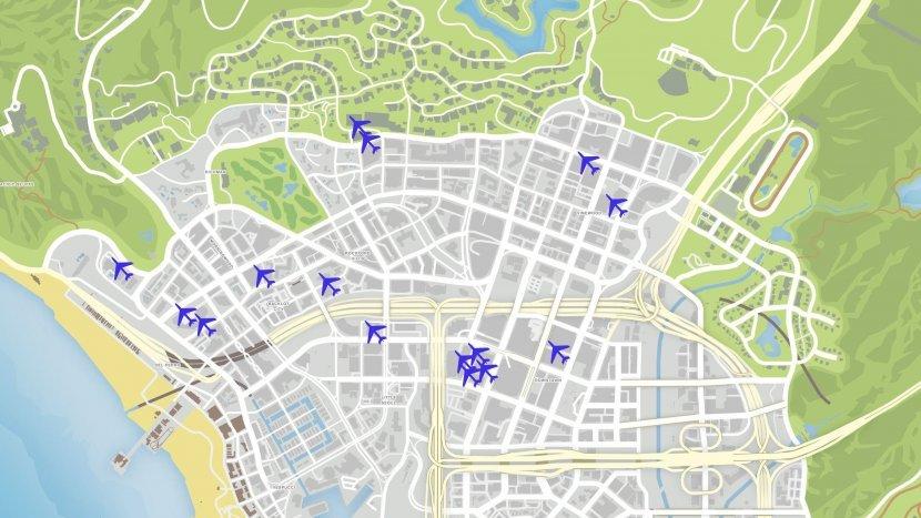 GTA V - Карта летных испытаний