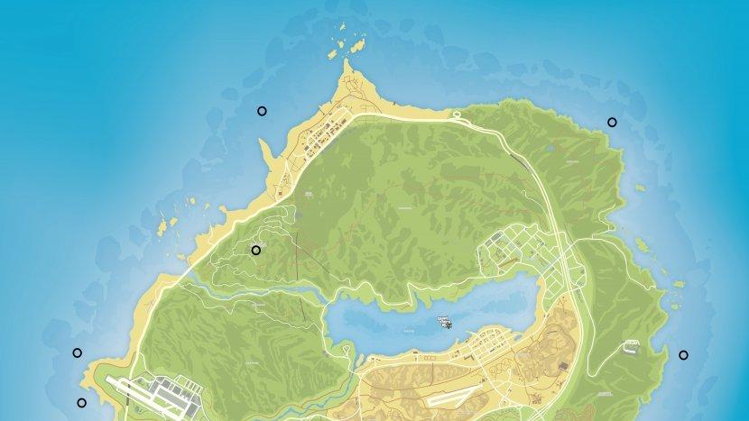 GTA V - Карта спрятанных пакетов
