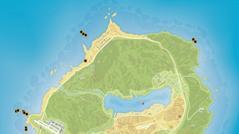 GTA V - Карта деталей подводной лодки