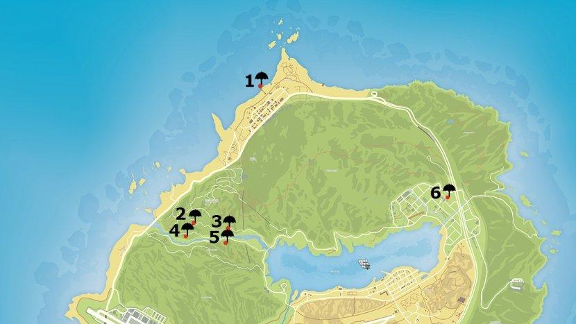 GTA V - Карта прыжков с парашютом
