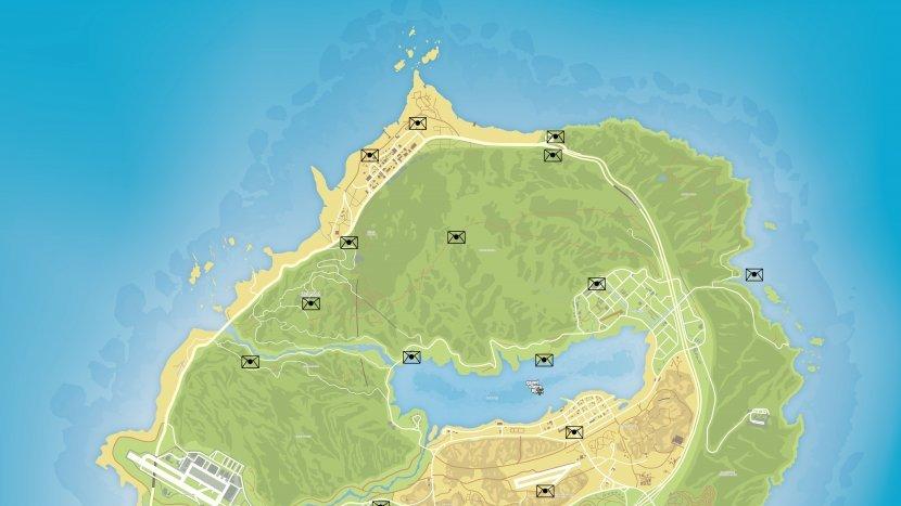 GTA V - Карта обрывков писем