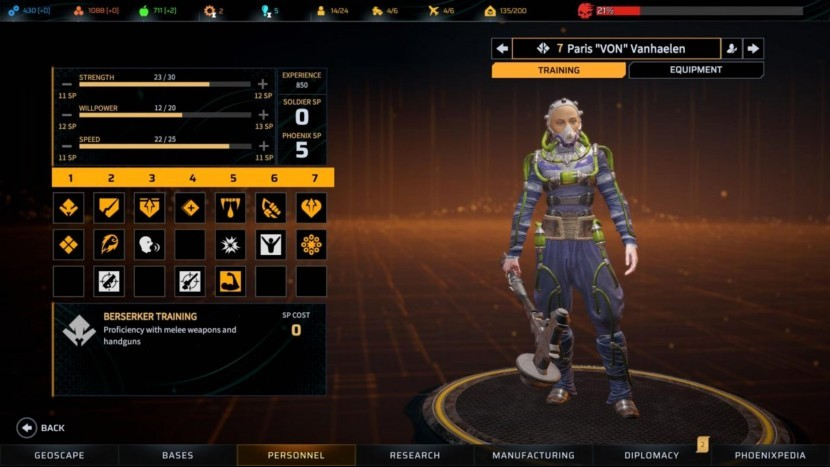 Phoenix Point – описание классов персонажей