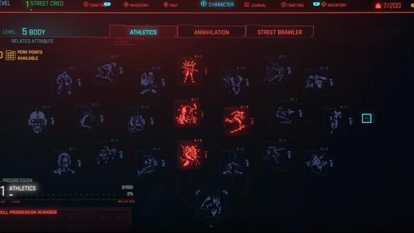 Cyberpunk 2077 - все доступные перки и их категории