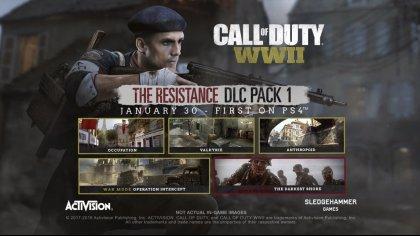 Анонс и первые подробности DLC «Resistance» для Call of Duty: WWII