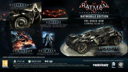 Разработчики Batman: Arkham Knight отменили коллекционное издание с бэтмобилем