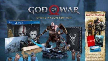 Коллекционное издание God of War 4 включает в себя целых пять разных статуэток