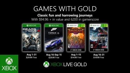 Анонсированы бесплатные игры для Xbox Live Gold на август 2019 года
