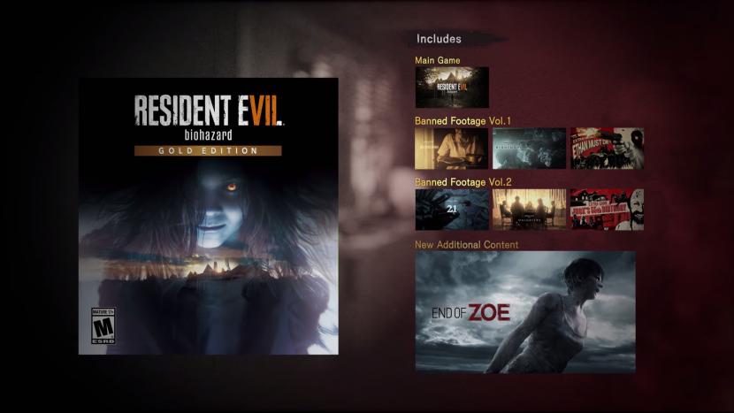 Состоялся релиз Resident Evil 7: Gold Edition с двумя новыми дополнениями к игре