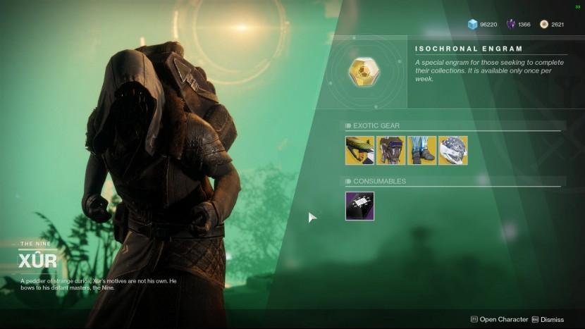 Destiny 2: у Xur есть экзотика для титанов