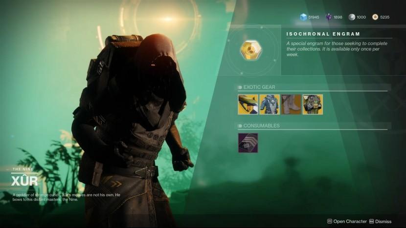 Где Xur сегодня? Место Destiny 2, Экзотическое оружие, Доспехи (9-13 августа)