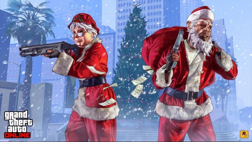 Для GTA 5 Online вышло новогоднее обновление