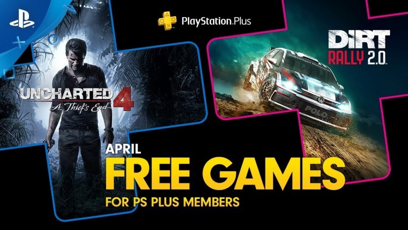 Uncharted 4 и Dirt Rally 2.0 доступны бесплатно для PlayStation Plus в апреле 2020
