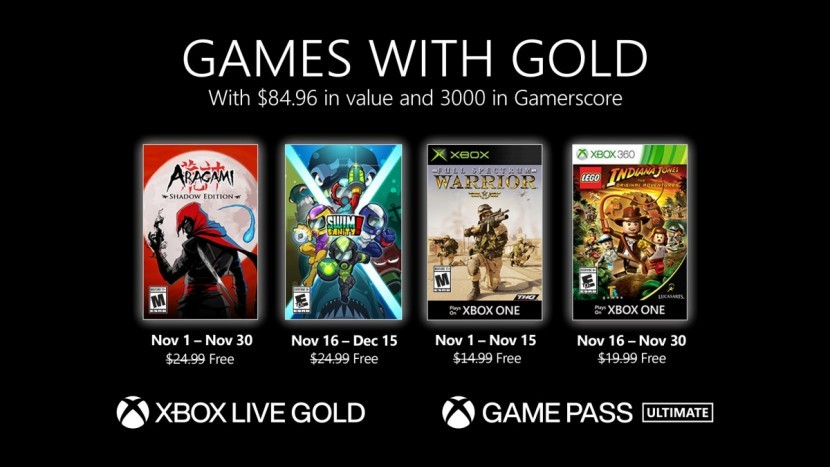Стали известны бесплатные игры Xbox Live Gold и Game Pass Ultimate на ноябрь 2020