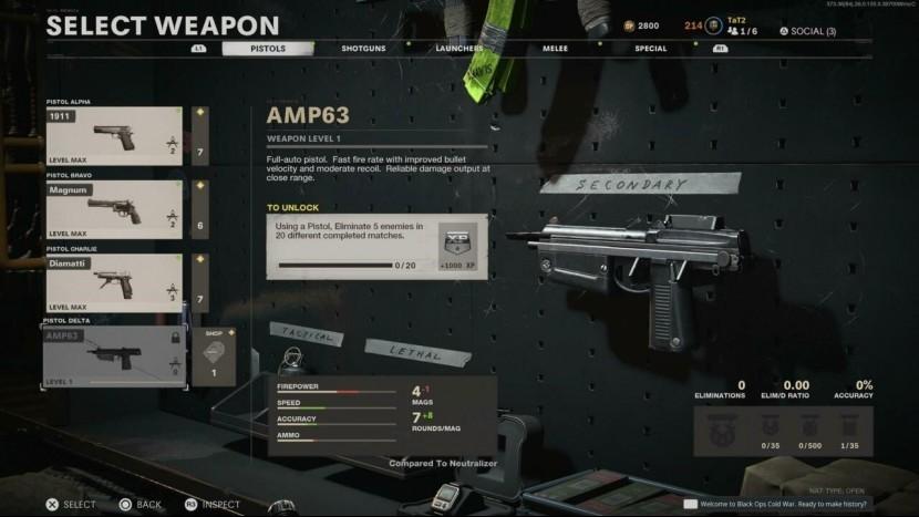 Пистолет AMP63 теперь доступен в CoD: Black Ops, Cold War и Warzone