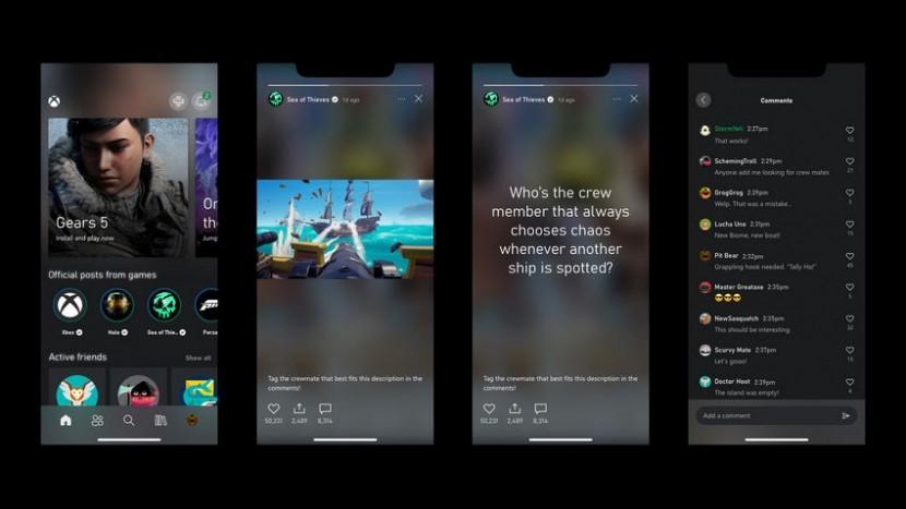 В приложении Xbox появились истории