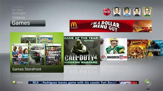 Ждите больше рекламы в Xbox Live