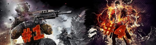 DmC: Devil May Cry #4, Call of Duty: Black Ops II #1