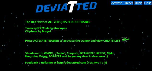 скачать The Red Solstice: Трейнер/Trainer (+18) [All Versions]