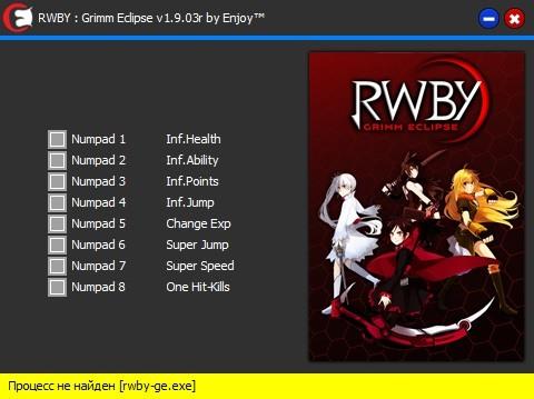 скачать RWBY - Grimm Eclipse: Трейнер/Trainer (+8) [v1.9.03r]