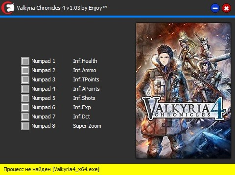 скачать Valkyria Chronicles 4: Трейнер/Trainer (+8) [v1.9.03r]