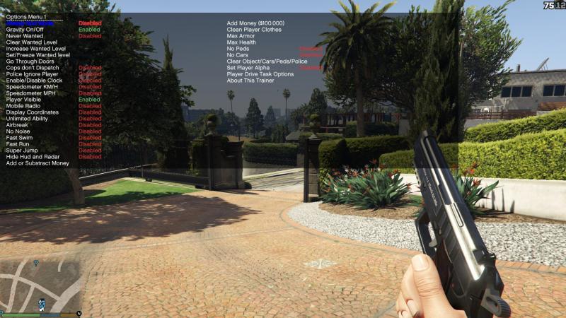 скачать Grand Theft Auto 5 (GTA V): Чит-Мод/Cheat-Mode (Simple Trainer for GTA V 9.8)