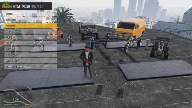 скачать Grand Theft Auto 5 (GTA V): Чит-Мод/Cheat-Mode (Enhanced Native Trainer Update 40 - bugfix update 2)