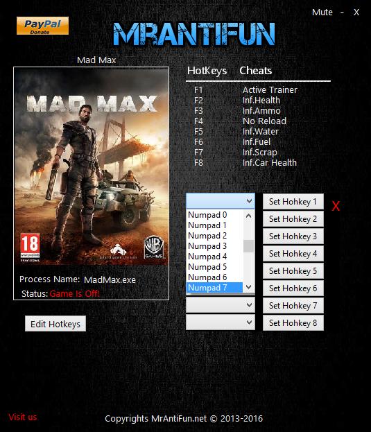 скачать Mad Max: Трейнер/Trainer (+7) [1.0.3.0: Orgin]