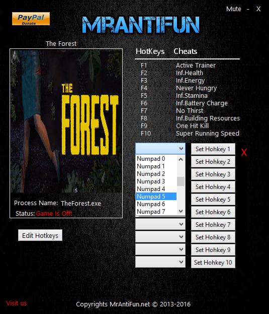скачать The Forest: Трейнер/Trainer (+10) [Build 3496148]