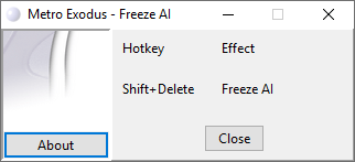 скачать Metro Exodus: Трейнер/Trainer (+1: Заморозка ИИ / Freeze AI) [1.0]