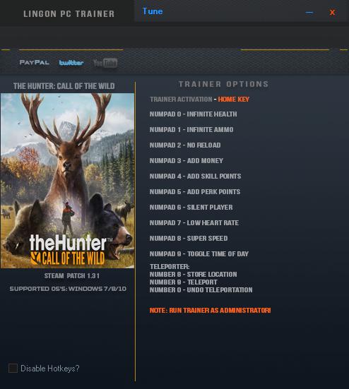 скачать The Hunter: Call of the Wild: Трейнер/Trainer (+12) [1.31]