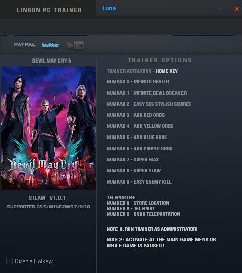 скачать Devil May Cry 5: Трейнер/Trainer (+12) [1.0.1]