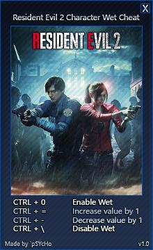 скачать Resident Evil 2: Character Wet Cheat / Чит - мокрость персонажа [1.0   STEAM]