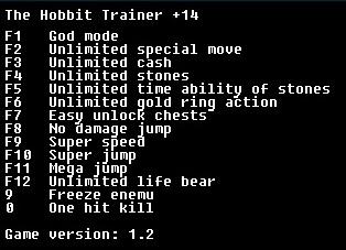 скачать The Hobbit: Трейнер/Trainer (+14) [v1.2]