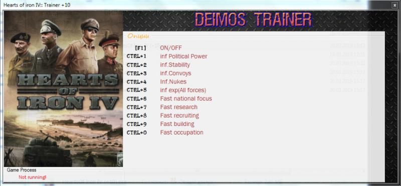 скачать Hearts of Iron 4: Трейнер/Trainer (+10) [1.6.1]