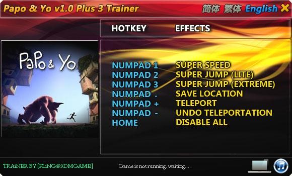 скачать Papo & Yo: Трейнер/Trainer (+3) [1.0]