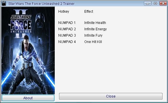 скачать Star Wars - The Force Unleashed 2: Трейнер/Trainer (+4) [1.0]