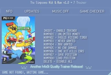 скачать The Simpsons - Hit & Run: Трейнер (+7) [1.0]