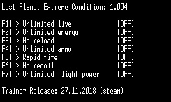 скачать Lost Planet Extreme Condition: Трейнер/Trainer (+7) [1.004]
