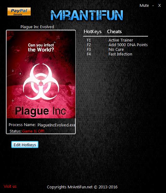скачать Plague Inc. Evolved: Трейнер/Trainer (+3) [1.16.7]