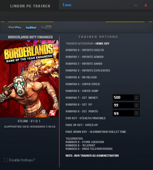 скачать Borderlands - Game of the Year Enhanced: Трейнер/Trainer (+16) [1.0.1]