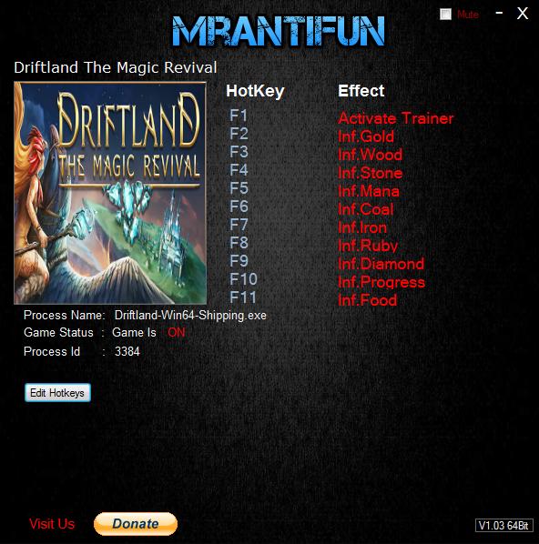 скачать Driftland The Magic Revival: Трейнер/Trainer (+6) [1.0]