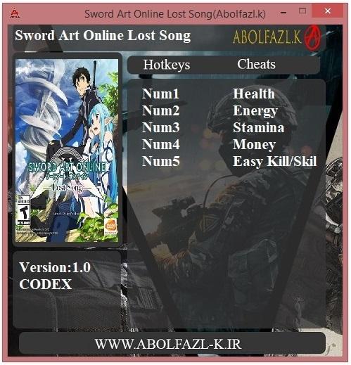 скачать Sword Art Online: Lost Song Трейнер/Trainer (+5) [1.00]